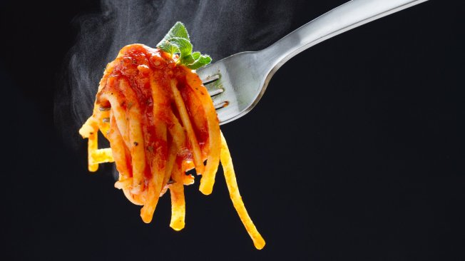 Pasta on a Fork Photo by Nicole Young